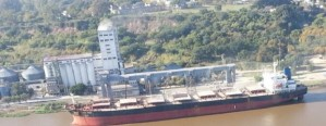 Un nuevo buque llega a Diamante para exportar trigo
